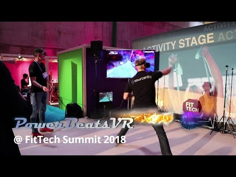 PowerBeatsVR Introduction at the FitTech Summit 2018 in Munich