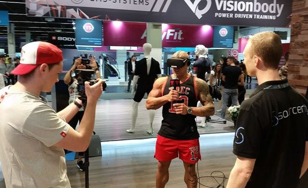 VR Fitness Game PowerBeatsVR at fitness fair FIBO 2018