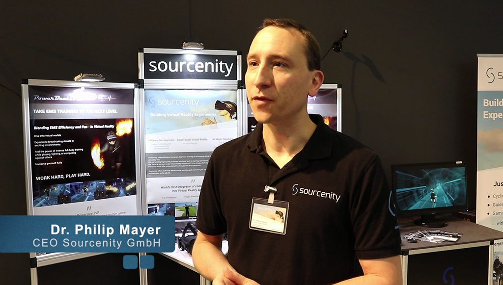 Interview with Sourcenity's CEO about PowerBeatsVR at FIBO 2018
