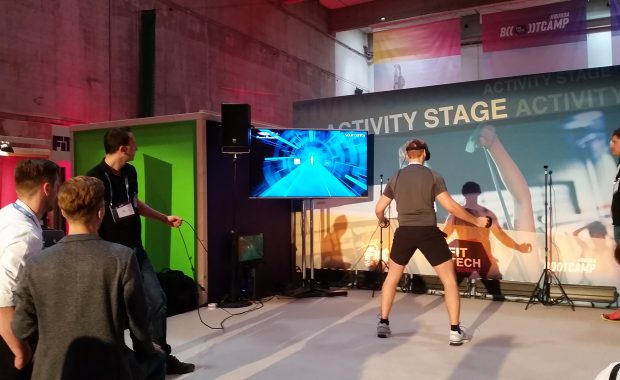 VR Fitness Game PowerBeatsVR at FitTech Summit 2018