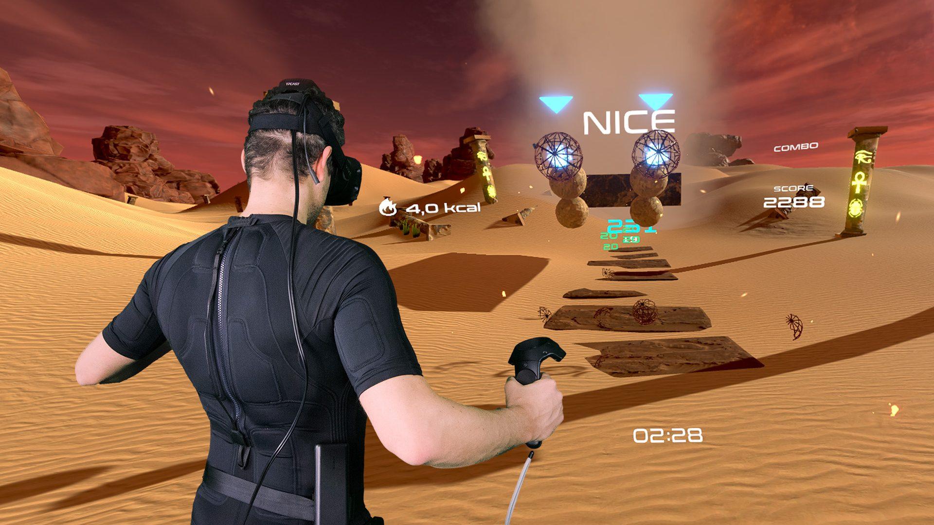 PowerBeatsVR - VR Fitness - Mixed Reality Recording