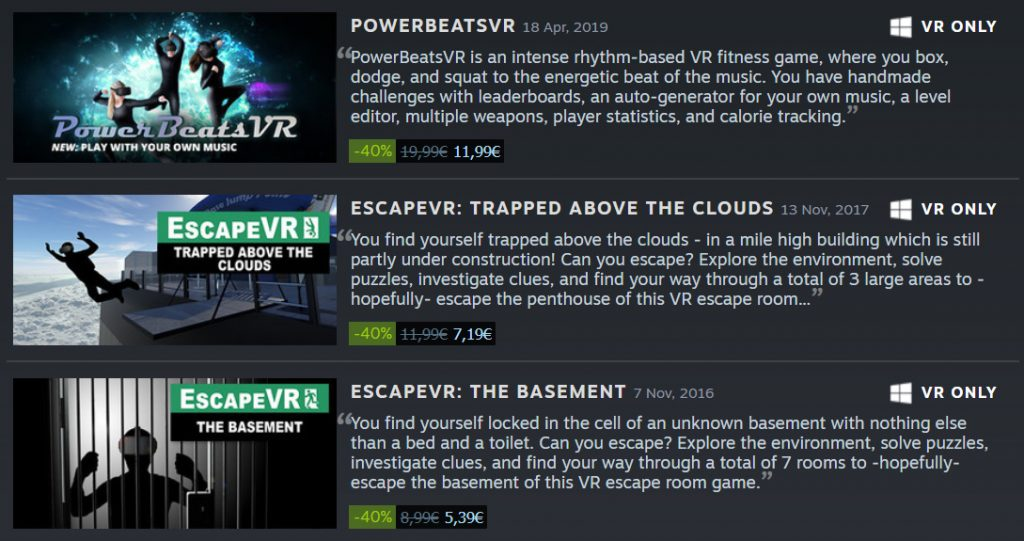 Five Mind Creations - VR Developer - Stay at Home Steam Sale