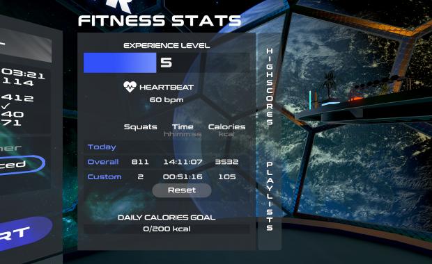 PowerBeatsVR - Menu - Fitness Statistics