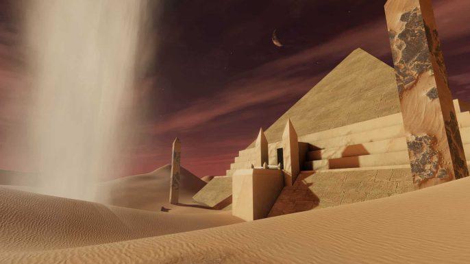 PowerBeatsVR - Rhythm-Based VR Fitness Game - Desert Environment